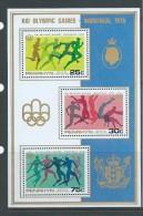 Penrhyn Island 1976 Montreal Olympic Games Miniature Sheet MNH - Penrhyn