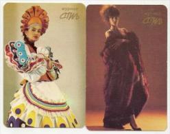 Pocket Calendars USSR 1991 - 3 Pcs.  - Girls - Fashion -  Advertising - Calendari