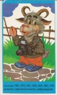 Pocket Calendars USSR 1991 - Camera - Goat -  Advertising - Calendriers