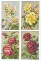 FLEURS - Lot De 4 CPA - Illustrateur MILLOT - Fleurs