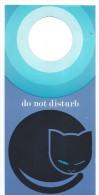 Hotellerie/Do Not Disturb/Hotel ?/ CHAT Dormant /Années 70-80  DND17 - Pubblicitari