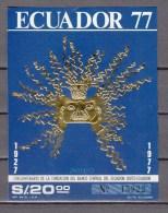 Ecuador 1977,1 Block, Central Bank,MNH/Postfris(L2006) - Ecuador