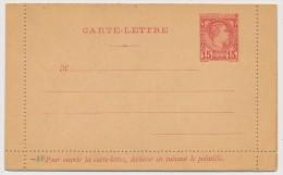 MONACO => Entier Postal => Carte Lettre - 15c  Charles III CHR F1 Neuve - Ganzsachen