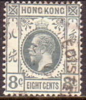 HONG KONG 1912 SG #104 6c Used Wmk Mult Crown CA Grey - Hong Kong (...-1997)