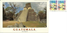 GUATEMALA  TIKAL  Temple  Nice Stamps - Guatemala