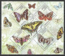 Ukraine 2004 Tiere Animals Fauna Schmetterlinge Butterflies Nachtfalter Moths Insekten Insects Papillion, Bl. 45 ** - Ukraine