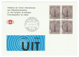 Suisse /Schweiz/Svizzera/Switzerland //UIT, 10 Comptoir De Martigny En 1969  (500 Exemplaires) - Officials