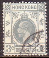HONG KONG 1939 SG #119 3c Used Wmk Mult Script CA Grey - Hong Kong (...-1997)