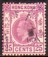 HONG KONG 1921 SG #126 25c Used Wmk Mult Script CA - Hong Kong (...-1997)