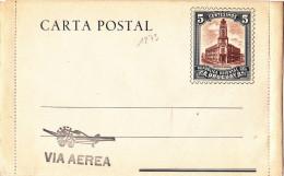 1273# REPUBLICA ORIENTAL DEL URUGUAY CARTA POSTAL EDIFICIO DE CORREOS NEUF VIA AEREA ENTIER STATIONERY GANZSACHE - Uruguay