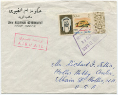 391 - Drucksache Von Umm Al-Qiwain In Die USA - Umm Al-Qaiwain