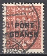 Poland Port Gdansk 1929 Danzig - Mi. 22 - Used - Gestempelt - 1919-1939 Republik