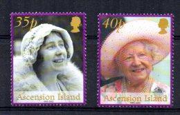 Ascension Island - 2002 - Queen Elizabeth, Queen Mother Commemoration - MNH - Ascension (Ile De L')