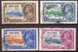 HONG KONG 1935 SG #133-36 Compl.set Used Silver Jubilee - Hong Kong (...-1997)