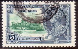 HONG KONG 1935 SG #134 5c Used Silver Jubilee - Hong Kong (...-1997)