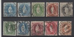 SUISSE - 1882-1904 - Obl. - Y&T 72/80 - Valeur 81€ - 1882-1906 Wappen, Stehende Helvetia & UPU