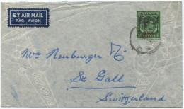 396 - Britische Militärverwaltung (Malaya) Nach St. Gallen