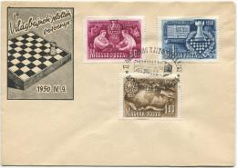 356 - Schach Serie 1950 Auf Illustriertem Brief Mit Sonderstempel - Lettres & Documents