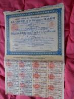 Obligation N 053687 ABIMEE EN HAUT 500 Francs  Ets Industriels E C GRAMMONT Et Alexandre GRAMMONT Avec  Coupons - 1922 - Industrie