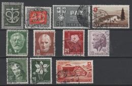 SUISSE - 1945-46 - Obl. - Y&T LOT DIVERS  -Valeur  18€ - Schweiz