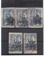 OPK290  JUGOSLAWIEN 1920 MICHL 134/38 II .Wr. BCHDRUCK  Used / Gestempelt RÜCKSEITE Siehe ABBILDUNG - 1919-1929 Kingdom Of Serbs, Croats And Slovenes