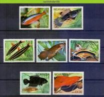 Msy063 FAUNA VISSEN FISH FISCHE POISSONS MARINE LIFE NICARAGUA 1981 PF/MNH - Fische