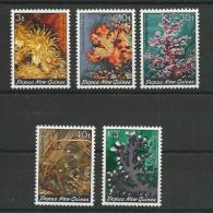 PAPUA - NEW GUINEA - YVERT 449/453 ** MNH - COTE = 14 EURO - CORAUX - Papouasie-Nouvelle-Guinée