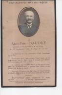 Généalogie Faire-part Décès Adelphe Daudey Décédé 16 Septembre 1924 à 70 Ans Valdahon Doubs Franche-Comté - Obituary Notices