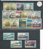 PAPUA - NEW GUINEA - YVERT 297/300 + 538/542 + 556/561 + 575/578 ** MNH - COTE = 48 EURO - BATEAUX - SHIP - Papouasie-Nouvelle-Guinée