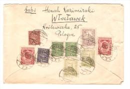 Poland/Polska 9 Stamps On Registered Cover C.Wtoctawek 1929 To Belgium Verviers PR2490 - Briefe U. Dokumente