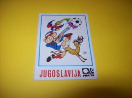 Old Stickers Card - Panini, Munchen 1974, WM74, Jugoslavija - Panini