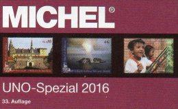 Michel UNO Spezial Katalog 2016 Neu 56€ ZD-Bögen FDC Markenhefte Stamp UN-Post Genf Wien New York ISBN 978-3-95402-139-0 - Vieux Papiers