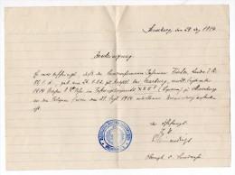 D672 Bescheinigung  Certificat De Décès ? STRASBOURG Cachet De L'Hôpital - 1939-45