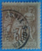 France 1876 : Type Sage Type II Brun N° 80a Oblitéré - 1876-1898 Sage (Type II)