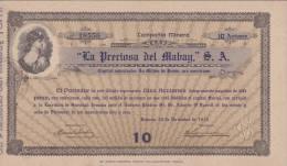 BON-200 CUBA BON 1916 10$. LA PRECIOSA DEL MABAY. - Shareholdings