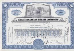 BON-201 CUBA BON 1959 100$. THE FRANCISCO SUGAR COMPANY. - Shareholdings