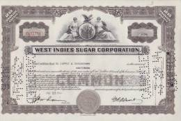 BON-203 CUBA BON 1944 10$. WEST INDIES SUGAR CORPORATION. - Shareholdings