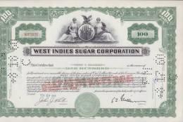 BON-204 CUBA BON 1958 100$. WEST INDIES SUGAR CORPORATION. - Shareholdings