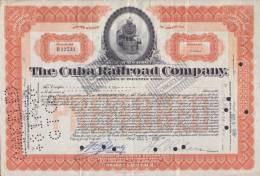 BON-207 CUBA BON 1936 10$. THE CUBA RAILROAD COMPANY. - Shareholdings