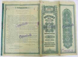 BON-211 CUBA BON 1905 100$. LIQUIDACION DEL EJERCITO LIBERTADOR. FIRMADA POR MAYOR GENERAL CARLOS ROLOFF POLONIA POLAND. - Shareholdings