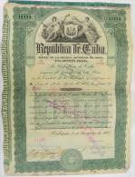 BON-212 CUBA BON 1905 100$. LIQUIDACION DEL EJERCITO LIBERTADOR. FIRMADA POR MAYOR GENERAL CARLOS ROLOFF POLONIA POLAND. - Shareholdings