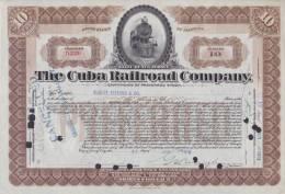BON-213 CUBA BON 1913 10$. THE CUBA RAILROAD COMPANY. - Shareholdings