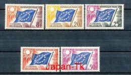 FRANKREICH Mi.Nr. 2-6 Europafahne - Dienstmarken Für Den Europarat - MNH - Neufs
