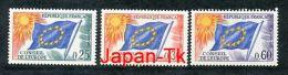 FRANKREICH Mi.Nr. 10-12 Europafahne - Dienstmarken Für Den Europarat - MNH - Neufs