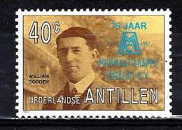 ANTILLES NEERLANDAISES 816**  40c Multicolore Et Bleu 75ème Anniversaire De La Compagnie Minière De Curaçao - West Indies