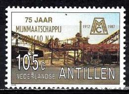 ANTILLES NEERLANDAISES 817**  105c Multicolore Et Or 75ème Anniversaire De La Compagnie Minière De Curaçao - West Indies