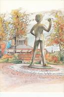 Belgium Belgie Postcard Artist Statue Fantasy Postcard As Per 2scans - Illustrators & Photographers