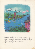 Belgium Postcard  Berthier Texte As Per 2scans - Belgique