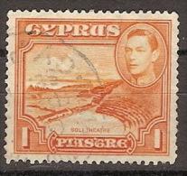Chipre U 137 (o) Jorge VI Y Paisaje. 1938 - Cyprus (...-1960)