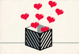 Box With Hearts Fantasy Postcard 2scans - Illustrators & Photographers